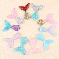 32x41mm Resin mermaid tail charms accessories beauty cream m...
