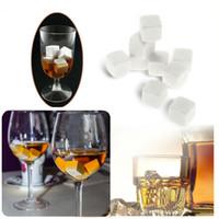 Freies verschiffen weiß Whiskey stones180pcs / 20 satz Hohe Qualität Natursteine 9 teile / satz whisky rock eiswürfel Bar Weihnachten Valentine Vater Geschenk