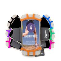 Diseño hueco Bolso del brazo Deporte al aire libre Teléfono móvil Arnés universal Material de silicona Práctico Armpack Impermeable Fácil de limpiar 12qx Y