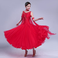 red customize ballroom dance competition dresses fringeballr...