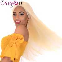 #613 Blonde Hair Lace Front Wigs Straight 13x4 Lace Front Hu...