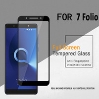 LG Q7 ARTı Alccs için 3D Koruyucu Alcatel 7 Metropcs Temperli Cam Tam Kapak Kavisli Yan Patlamaya dayanıklı Perakende ambalaj ile