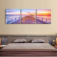 Art painting 3 pieces Distant sky high definition print canv...