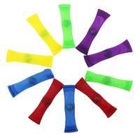 Colorido malla rejilla cinturón Fidget juguetes fuerte mármol Fidgets juguete Squeeze Squishy alivia el estrés descompresión juguete I193