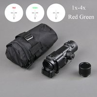 Tactical Rifle Scope Schnell abnehmbare 1X-4X Einstellbare Dual Role Sight Rot und Grün Optic Hunting Scope
