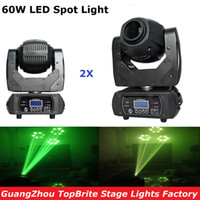 2XLot LED Spot Moving Head Light 60 W Led Moving Head Feixe Spot Stage Lighting 10/12 Canais Para Profissional Stage Discoteca luzes