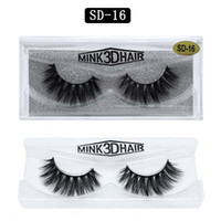 Grosso Natural Long 3D Mink Falso Eyelashes Light Macio Vívido Mão Made Reusável Acessórios de Maquiagem de Lashes Fake para Olhos 16 Modelos Disponíveis DHL Free YL003