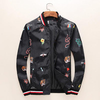Fashion tiger windbreaker for men luxury brand hip hop stand...