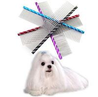 19cm Dog Brush Fancy Edelstahl Pin Brush Kamm für Hunde Katzen Hohe Qualität Haarbürste Dog Grooming Tool Großhandel noDC20