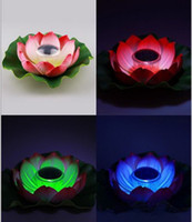 للماء LED مصباح للطاقة الشمسية العائمة زهرة اللوتس RGB تغيير لون مهرجان ليلة الإضاءة على بركة بركة حديقة الديكور