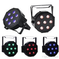 7X10W RGBW LED Par luces DMX Par puede luz efecto de lavado activado por sonido modos para Stage DJ Lighting Party Wedding Church