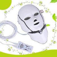MOQ 1 PC 7 LED 조명 광자 치료 아름다움 PDT 기계 피부 젊 어 짐 LED 얼굴 목걸이 피부 미 백에 대 한 Microcurrent LED