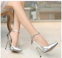 Wholesale 2018 Shoes Women Ankle Strap of removable Sexy Pum...