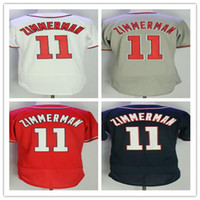 2017 Stitched Men' s #11 Ryan Zimmerman Baseball jerseys...
