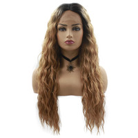 "Fahion & Hot 28"" Long Lace Front Wig Kinky Curly Brown ..."