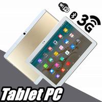 """848 جودة عالية 10 بوصة MTK6572 MTK6582 IPS شاشة تعمل باللمس بالسعة المزدوج سيم الجيل الثالث 3G لوحي الهاتف الكمبيوتر 10 """"الروبوت 6.0 الثماني الأساسية 4GB 64GB G-10PB"""