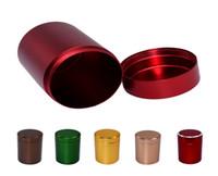 5pcs / lot 45 * 65mm scatola della pillola della lega di alluminio caso bottiglia titolare metallo scatola di immagazzinaggio di tè coffe jar per trave all'aperto