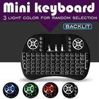 Portable Rii i8 Mini Wireless Keyboard Touchpad Game LED Bac...