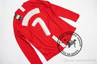 شحن مجاني 2008 رونالدو غيغز روني قميص طويل الأكمام جيرسي النهائي موسكو 2008