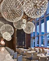 현대 북유럽 펜던트 라이트 스파크 볼 LED 샹들리에는 불꽃 놀이 볼 스테인레스 스틸 샹들리에 홈 인테리어 조명 85-265V 조명기