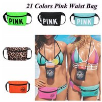 21 Colors PINK Letter Printed Waist Bag Waterproof Pink Hand...