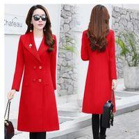 Осень зима женская одежда длинный раздел тонкий толстый шерстяной верхняя одежда пальто ветровка шерстяная куртка