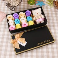 Creative Birthday Gift 12 Pieces Lot Soap Rose Flower With B...