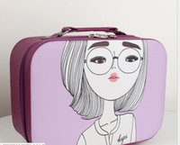 لطيف جديد الكورية مربع الأزياء، حقيبة للماء، حقيبة. 2018 حقيبة مستحضرات التجميل المحمولة غسل، ماكياج التجميل السفر المهنية CTWGP
