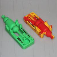 Kit raccoglitori di nettare in silicone con strumento GR2 titanio da 10mm e strumento dabber Kit tubo mini in silicone per l'olio Rig Mini silicone Bong