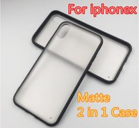 Hybrid Slim TPU Bumper PC Hard Transparent Clear Matte Frost...