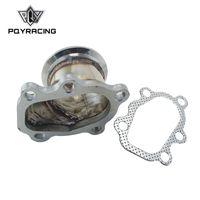 """PQY - محول الفولاذ المقاوم للصدأ ل T25 T28 GT25 GT28 2.5 """"63 ملم V- الفرقة المشبك شفة توربو أسفل محول PQY4833"""