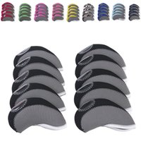 9 colors golf club headcover set 10pcs set golf iron head co...