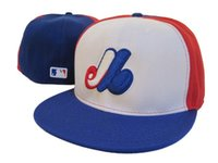 2018 Nueva Montreal de alta calidad con sombrero en béisbol plana Brim Cheap Sports Team EXPOS Full Closed Caps huesos de deporte Gorras One Piece