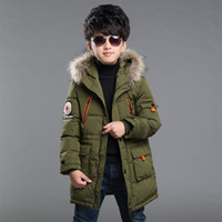 New baby Boys Winter Coat 6 to 14 Years Hooded Children Patc...