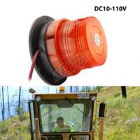 2рс DC10V-110V автомобиль установленной магнитной автомобиль LED сигнальная лампа мигает лампу радиомаяка для лесоводства машин тяжелых карьерных самосвалов