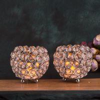 Kristall Perlen Globus Kerzenhalter Kerze Schüssel Sparkly Votiv Leuchter  Kristall Für Weihnachten Hochzeit Herzstück Home Deco