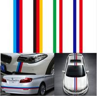 100CMx15CM Автомобиль Hood крыша Fender M-Colored питание Крышка двигателя Флаг нашивка Наклейка Наклейка для BMW 1 2 3 4 5 7 серия Q5 Q7 X1 X3 X5 X6