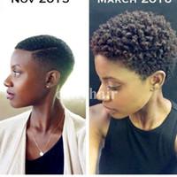 Pixie Cut 짧은 인간의 머리 가발 자연 블랙 리안 여자 흑인을위한 가발 아프리카 계 미국인 연예인 가발