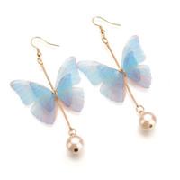 Fashion super fairy sweet butterfly earrings