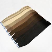 Le meilleur ruban 10A dans les prolongements de cheveux 100% originaux de cheveux de Remy de Vierge 200g / 80 Pcs brésilien indien péruvien indien de peau