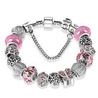 925 Sterling Silber überzogene Perlen Kristall Schmetterling Chamrs Armbänder für Pandora Charm Bracelet Bangle DIY Schmuck für Frauen