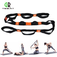 Yoga Stretch Belt Multiple Grip Loops Stretch Strap Fitness ...