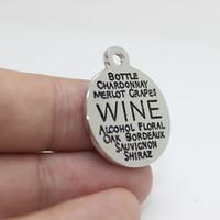 Os recém-chegados 15 pcs-22mm vinho liga de zinco branco k encantos palavra colagem encantos pingente para colar pulseira jóias diy