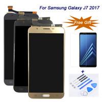 삼성 갤럭시 J7 2017 J727 J730F 들어 100 % 엄격히 tesed LCD 터치 스크린 디스플레이 디지타이저 어셈블리 최고의 품질