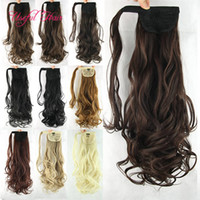 22inch Synthetic Curly Hairpiece Ponytail Hair Extensions ki...