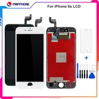 Melhor substituição aaa para iphone 6 s lcd screen dsiplay com 3d toque digitador assembléia peças de reparo branco preto cor + frete grátis