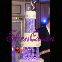 "2Tier Crystal Chandelier Cake Stand Round or Square- 8""..."