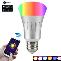 Wi- Fi Smart Light Bulb Dimmable LED Bulbs 7W Multicolored Co...