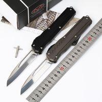 Microtech MK7 D2 lâmina cnc automática facas Cypher MK7 auto faca 241m-10 Gy alça cinza ferramenta de sobrevivência espelho lâmina exterior EDC