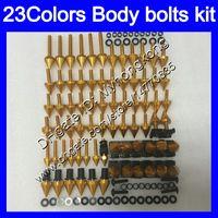 Fairing Bolts Full skruvkit för Honda CBR600F4 99 00 99-00 CBR600 F4 CBR 600 F4 CBR 600F4 1999 2000 Kroppsnötter Skruvar Mutter Bolt Kit 25Colors